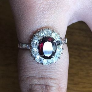 Antique Art Deco Pre (1930's) Sterling Silver Ring